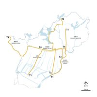 01 Transects focusing on four primary natural and artificial waterways in Chang'an
