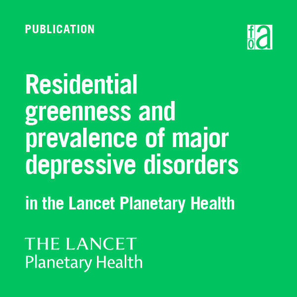 Residential greenness and prevalence of major depressive disorders