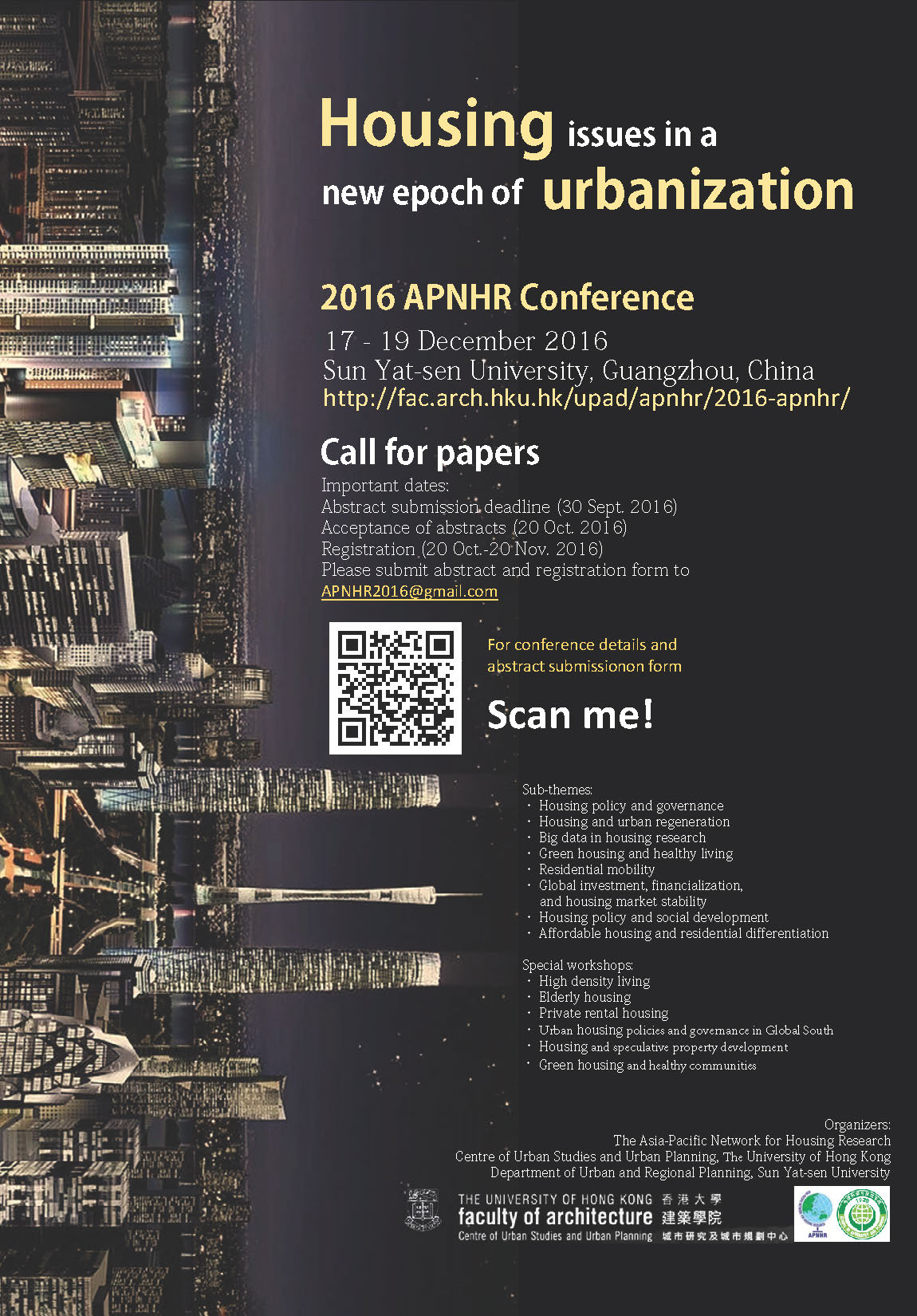 2016 APNHR Conference: Housing issues in a new epoch of