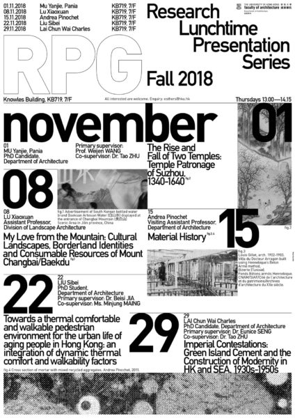 Research Lunchtime Presentation Series Fall 2018