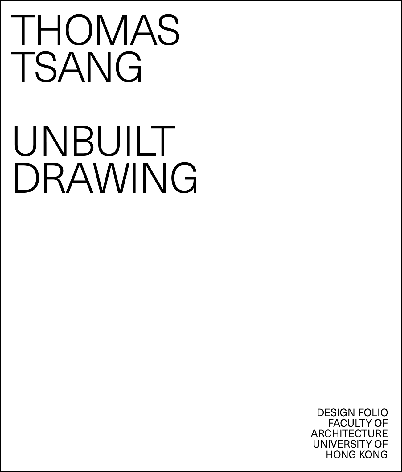 Unbuilt Drawing