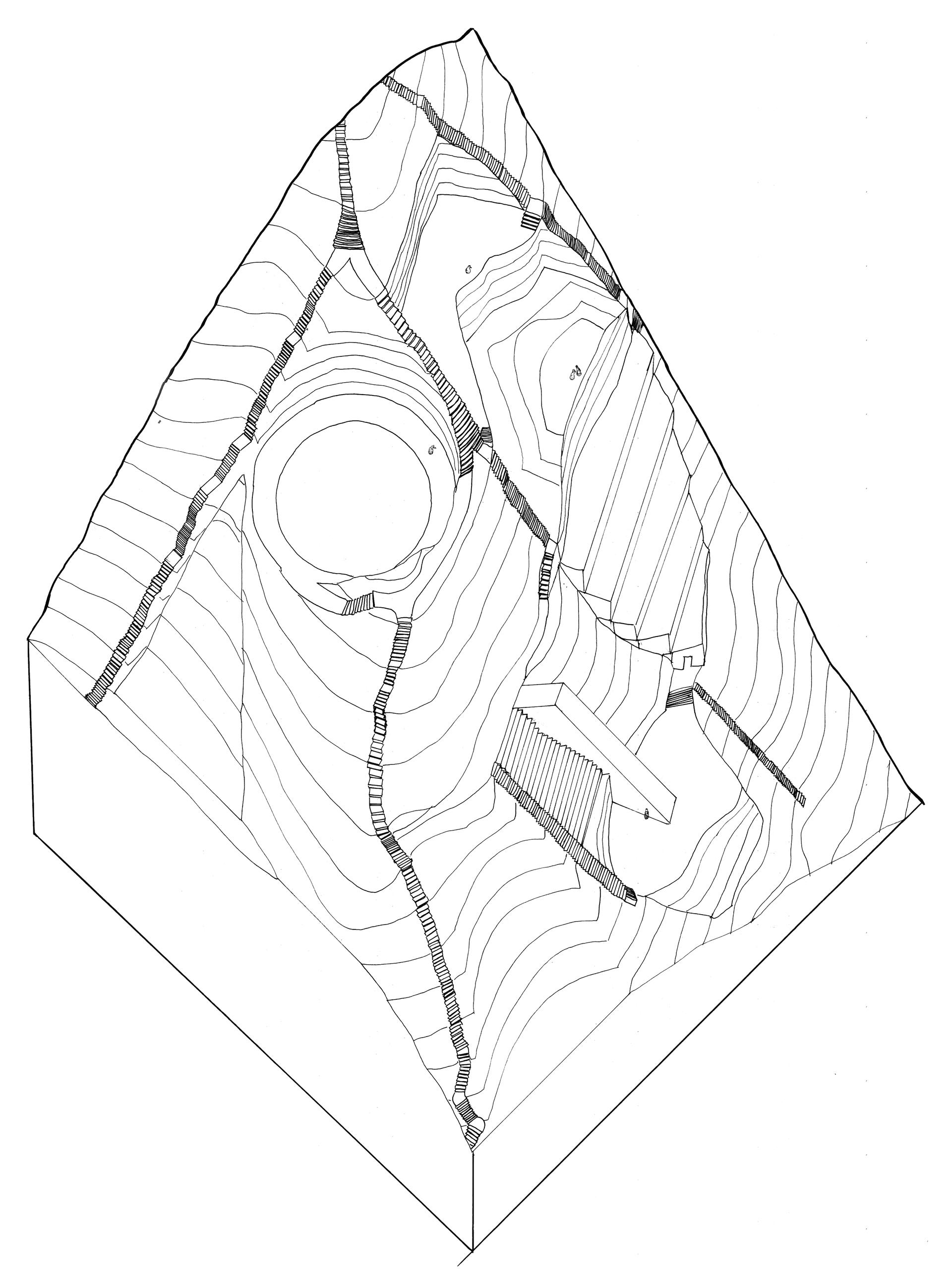 Enlarge Photo: Axonometric drawing (P5). By TSE Pui Hei Anson.
