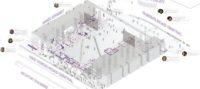 Enlarge Photo: World Wide House Exploded Isometric. By JIANG Xinjie Jo; Sze Pui Lam Jacky; MA On Ki Rachel.