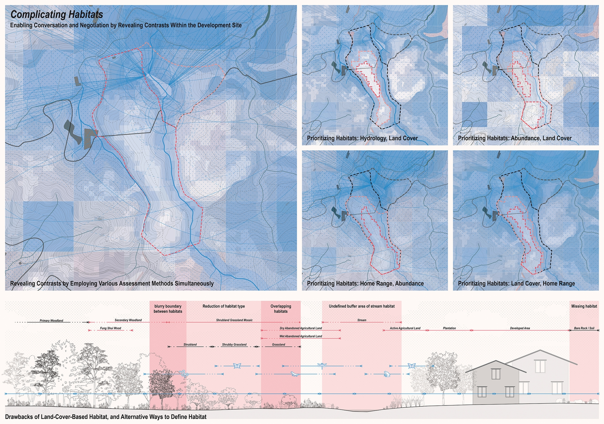 Enlarge Photo: Contrasting habitats: Counter-evaluations of a site's ecology. By HO Yu Ming.