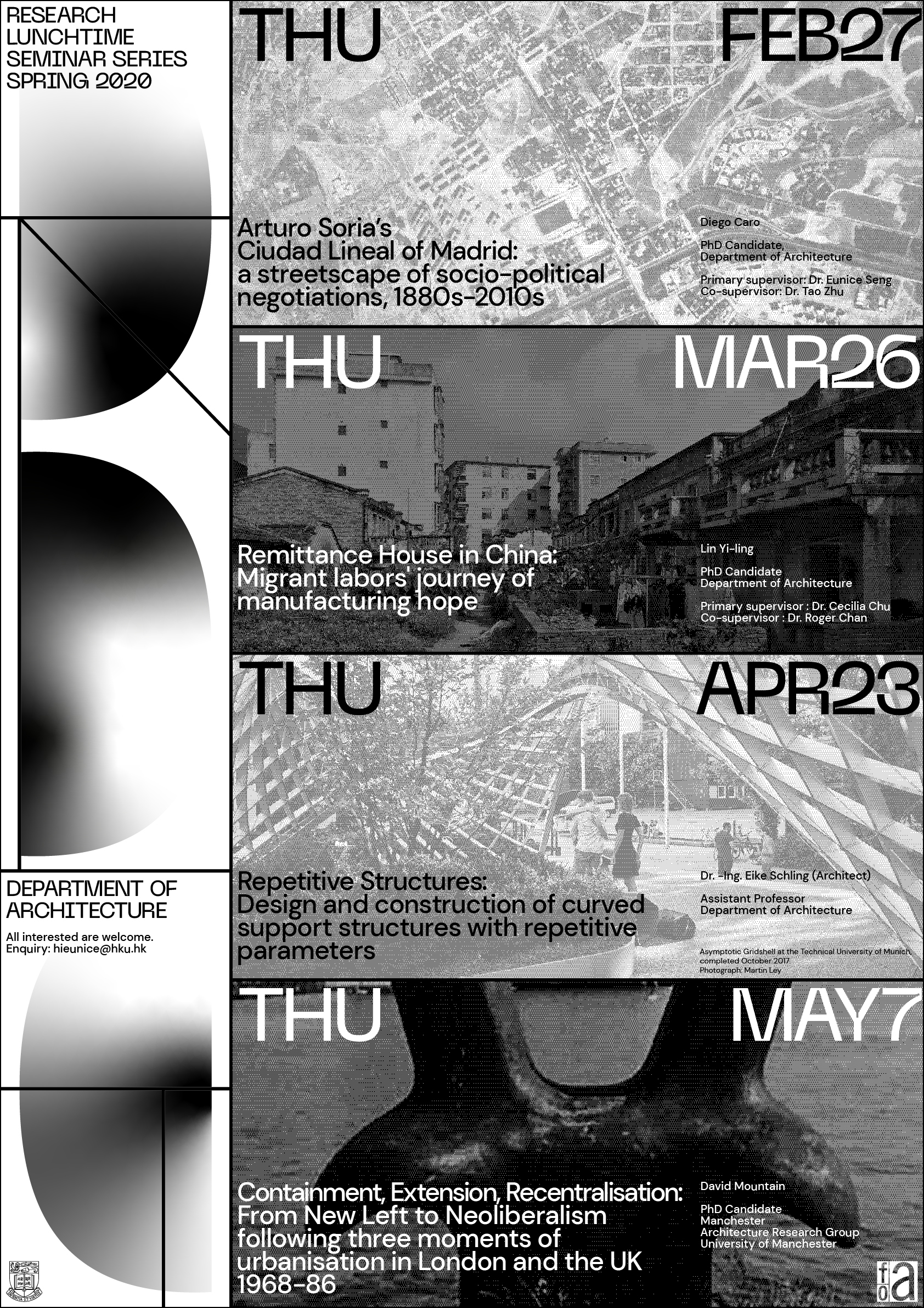 Research Lunchtime Seminar Series Spring 2020