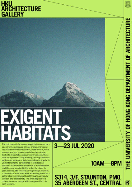 Visual_PMQExhibition_02_ExigentHabitats_01_Poster