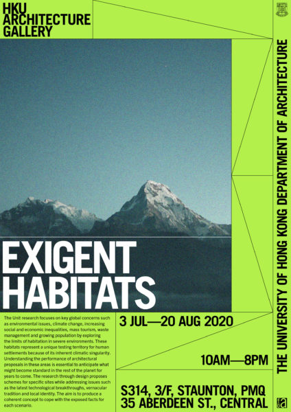 """EXIGENT HABITATS"" Exhibition @ PMQ"