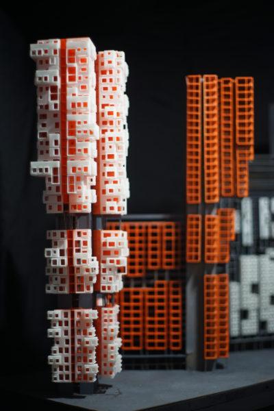 Simulated facade aggregates