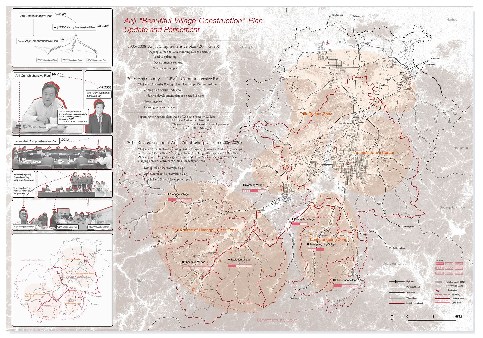 Enlarge Photo: By overlapping three upper-level plannings, it's clear that these plannings represent the dominant worldview that emphasizes the economically sustainable. Therefore, it is hard for rural development to achieve environmentally sustainable. By WANG Xuting Julie.
