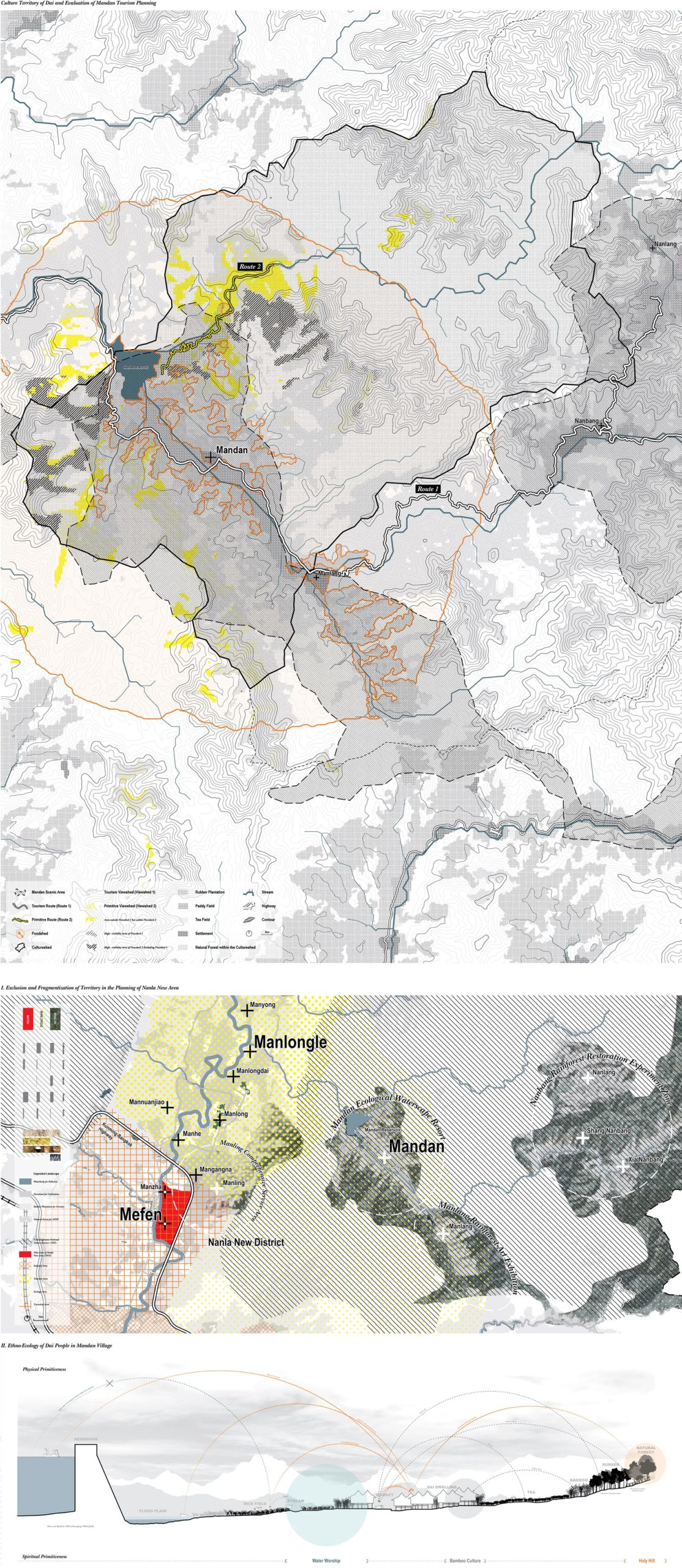 Enlarge Photo: Mandan is to be developed in the mode of National Parks, while the cultural territory of Dai people proved to be much larger than the boundaries of tourism development plans. By ZHANG Mengting Yani, WEI Gongqi William.