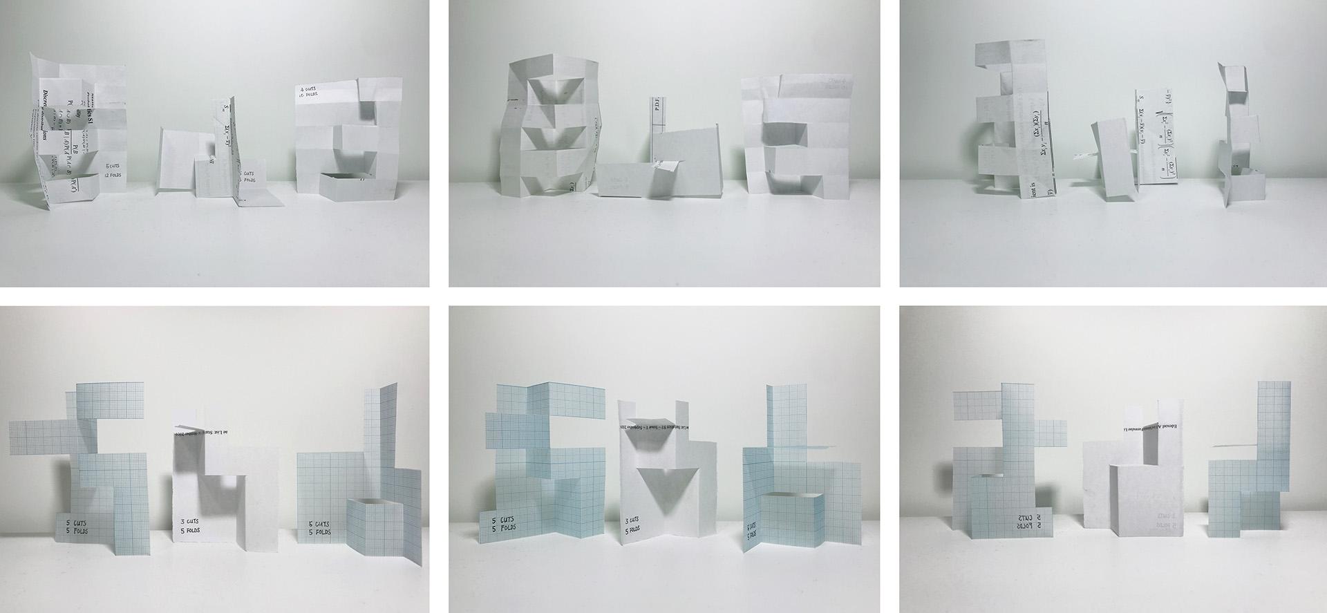 Enlarge Photo: Paper Fold Study Models. By LAI Man Ki Maisy.