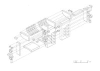 Enlarge Photo: Exploded Axonometric View. By MOON Joonseong Tim.
