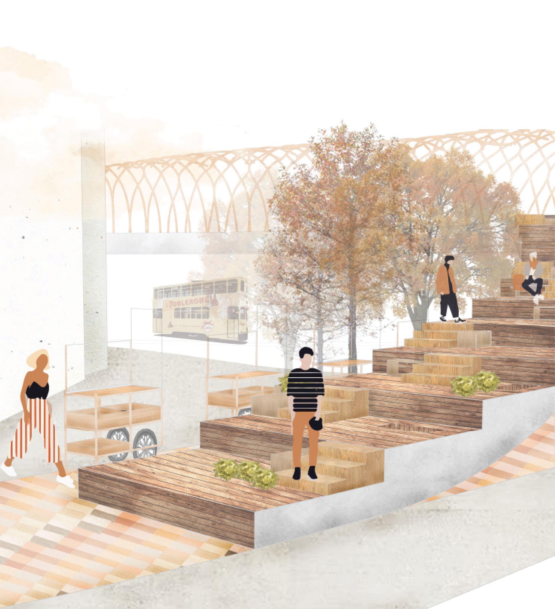 Enlarge Photo: Final project 'The Common Bridge'. By MAK Sum Yuet Faustine .