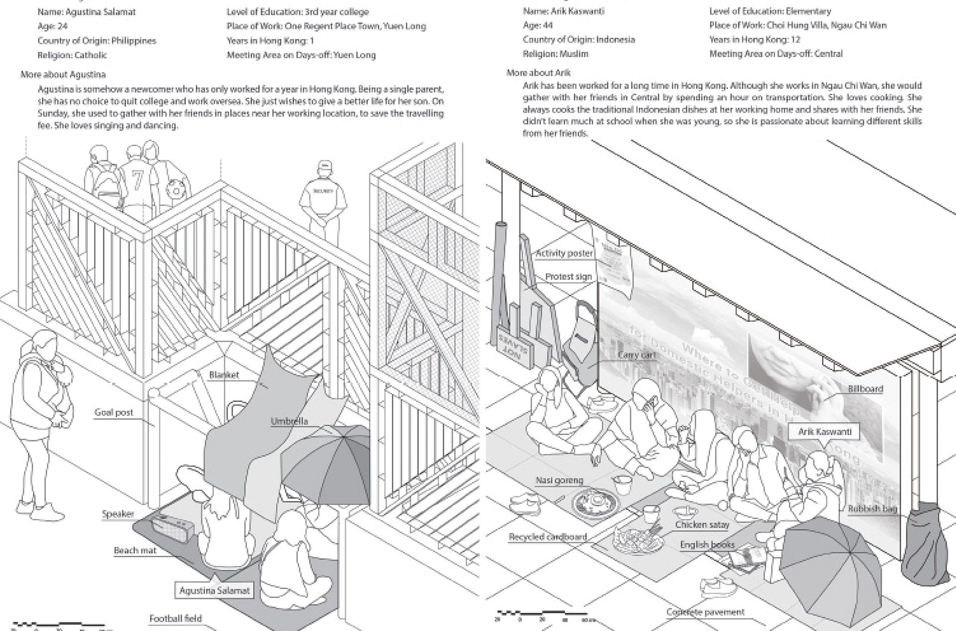 Enlarge Photo: Axonometric for the exercise imagined communities. By FONG Joyce.
