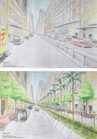 Before and After 'sTREEt' View. By TSANG Ka Lai Lillian.