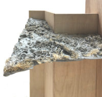 Proto-Sections ( Waxpaper / Loofah Concrete. By FUNG Ngo Ching Louisa, TSANG Ka Lai Lilian.