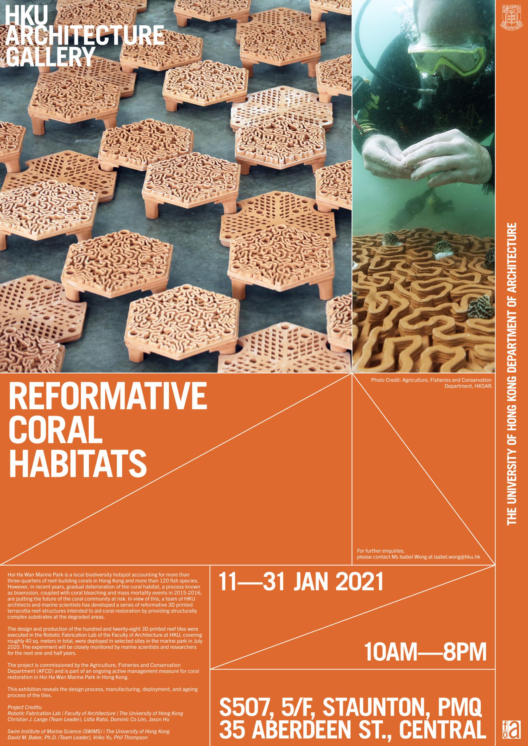 """""""Reformative Coral Habitats"""" Exhibition @ PMQ"""