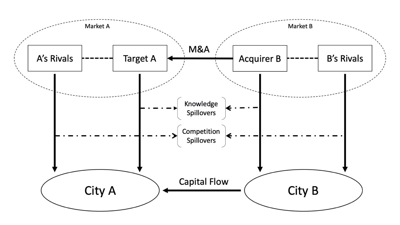 Figure 1 The Link Mechanism between M&As and Local Economies.