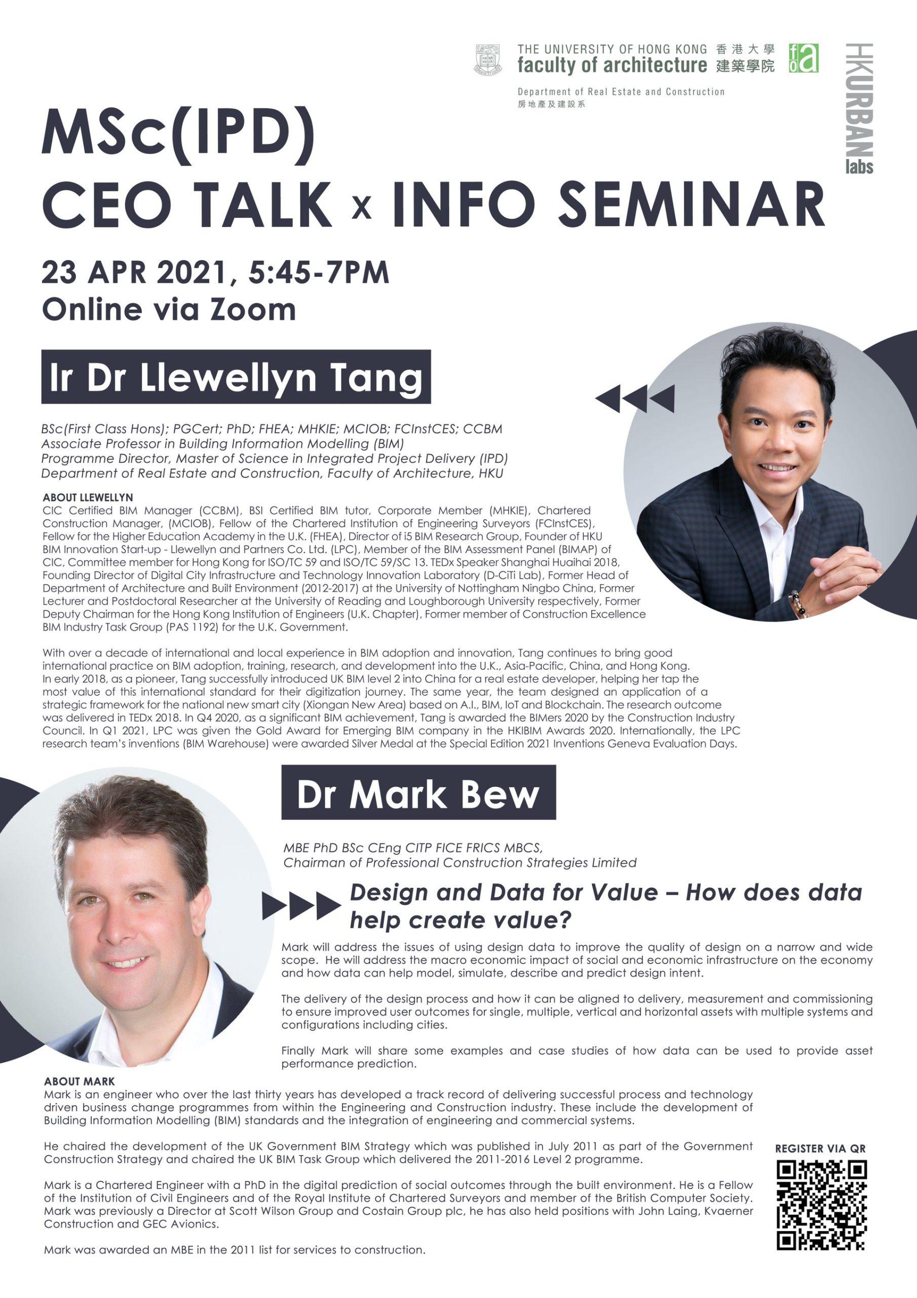 Llewellyn Tang and Mark Bew