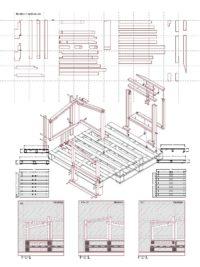 2. Detail drawings and instructions of final pallet modifications   Project: Repurposed pallets at Sai Wan Pier   Students: Liu Yujie Romi, Wang Yulai, Zeng Tian