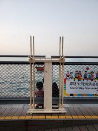 7. Installation view on Sai Wan Pier   Project: Spaces for staying   Students: Ku Ka Wing Clarence, Mok Hoi Yee Aikawa, Wai Lam Linda