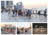 8. Installation views Belcher Bay Promenade   Project: Playing/Dancing  Students: Liu Tsz Shing Jason, Tse Wang Chun Kieran, Yeung Man Ki Connie, Yeung Hin Oswin