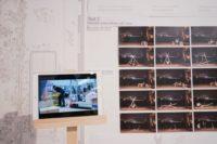 11. View of final discussion pin-up  Project: Folding, stacking, sitting. Unit for Sai Wan Pier   Students: Guo Huaer, Sun Yutong, Yang Mei Freya