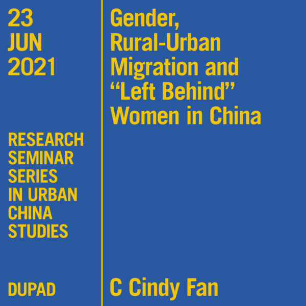 Research Seminar Series in Urban China Studies