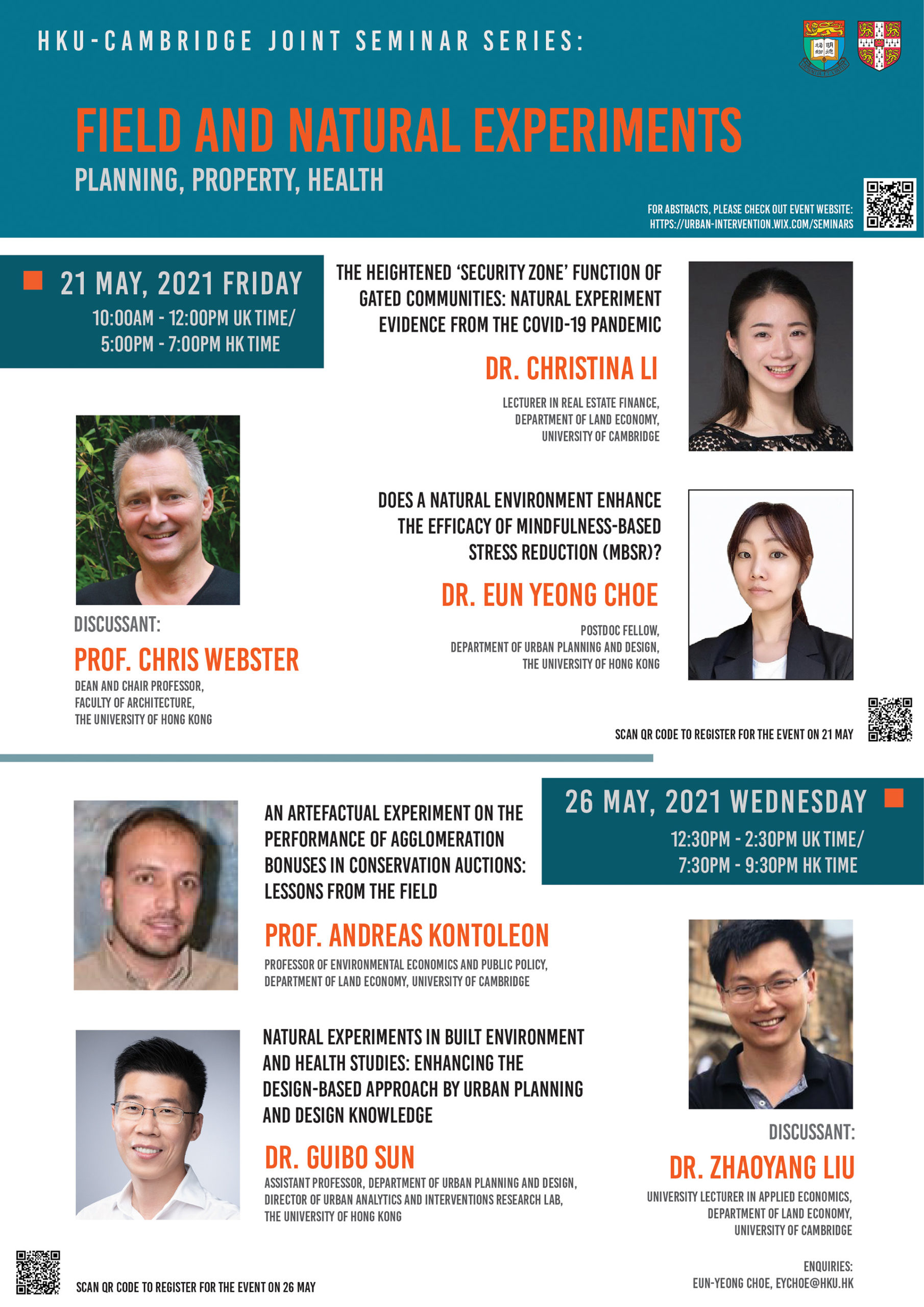 HKU-Cambridge Joint Seminar Series