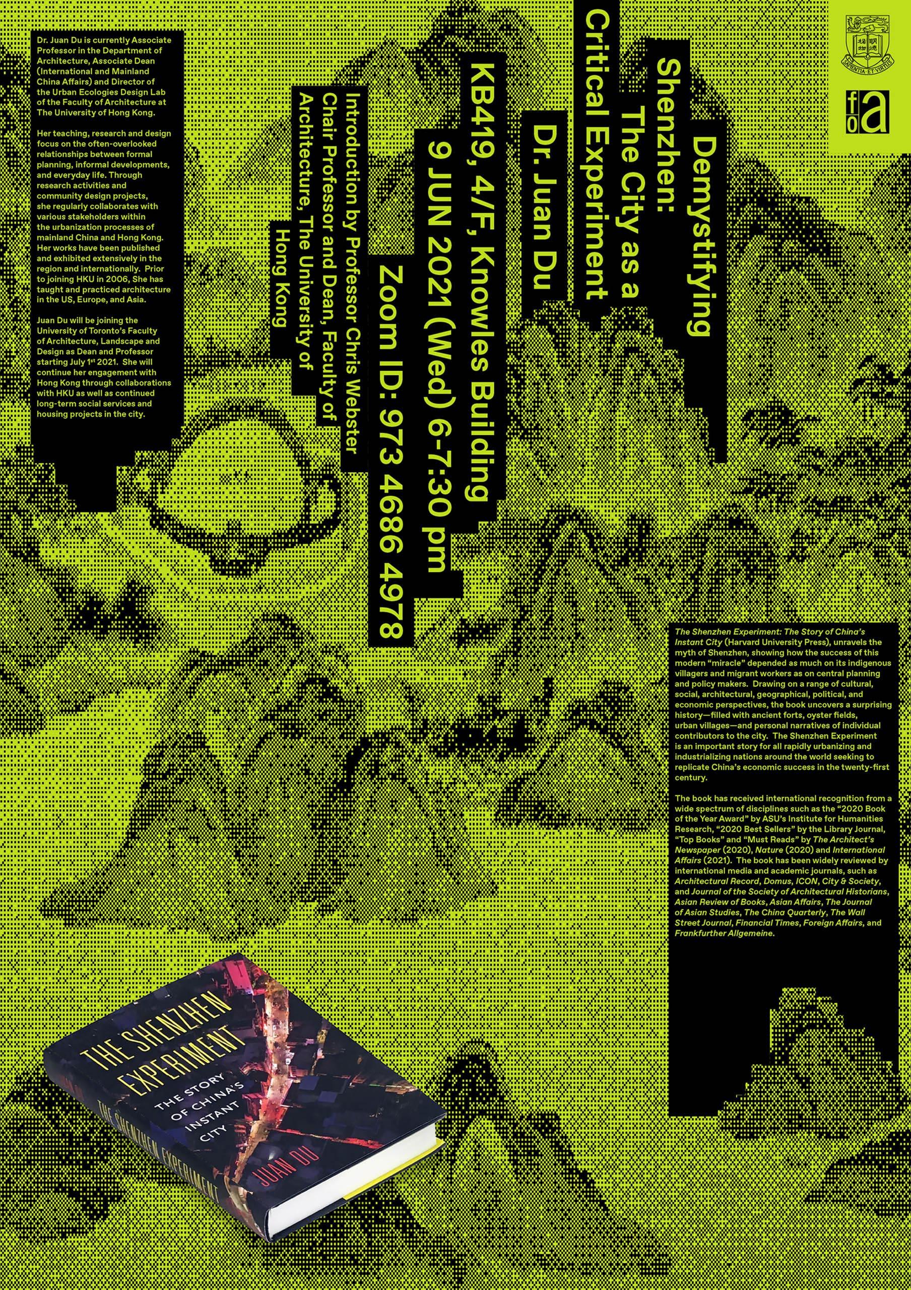 Book Launch & Talk — Demystifying Shenzhen: The City as a Critical Experiment
