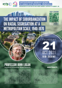 Distinguished Webinar Series in Urban and Regional Research The Impact of Suburbanization on Racial Segregation at a Metropolitan Scale, 1940-1970