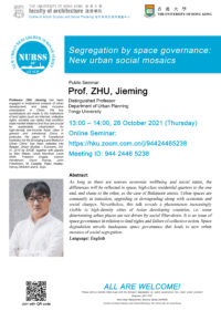 Segregation by space governance: new urban social mosaics