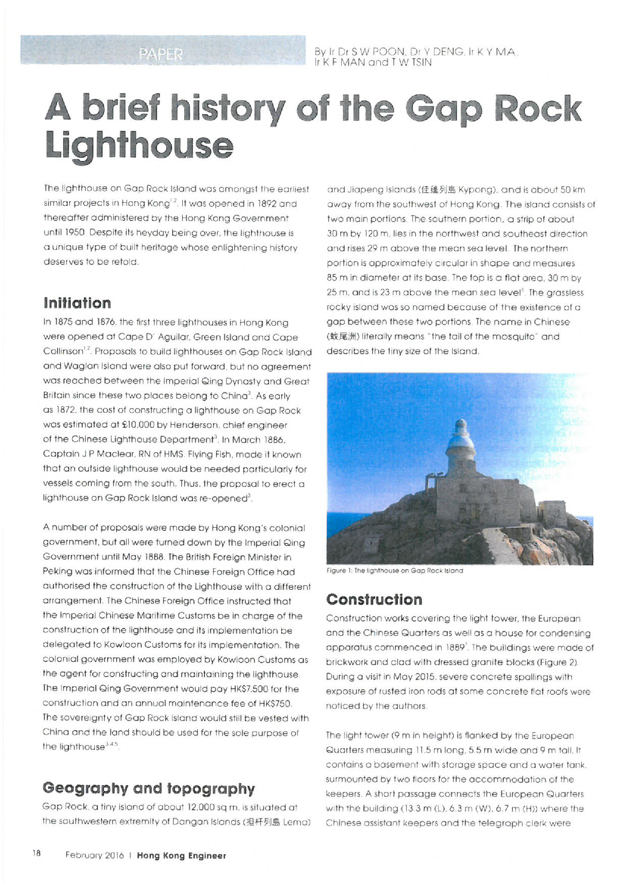 The Gap Rock Lighthouse | HKU Faculty of Architecture