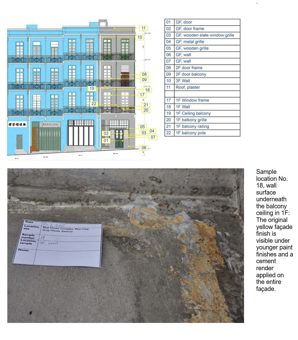 Paint finish investigation of Grey House, Blue House Cluster, Stone Nullah Lane, Wanchai, HK/></a></div> 										 										<div style=