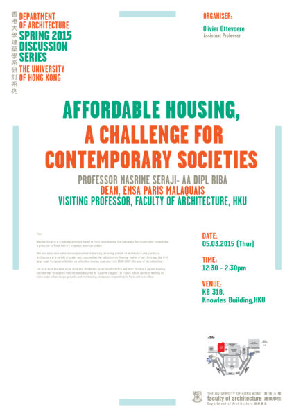 Spring 2015 Discussion Series – Affordable Housing, A Challenge for Contemporary Societies
