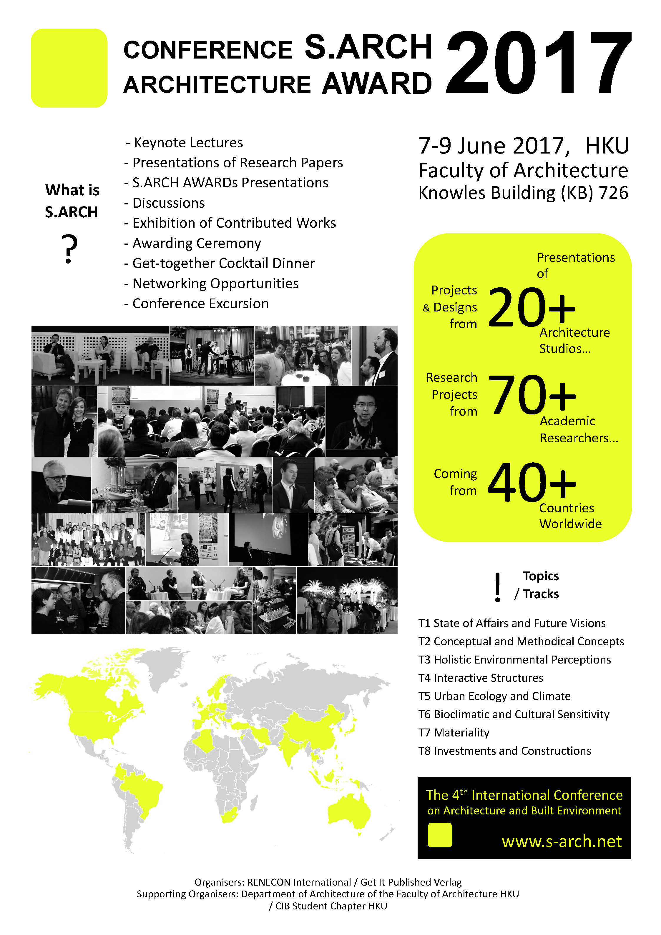 The 4th International ARCHITECTURE Conference with AWARDs – S.ARCH 2017