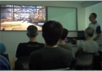 Figure 3: Safety seminar and training using 3D-Video for the workers