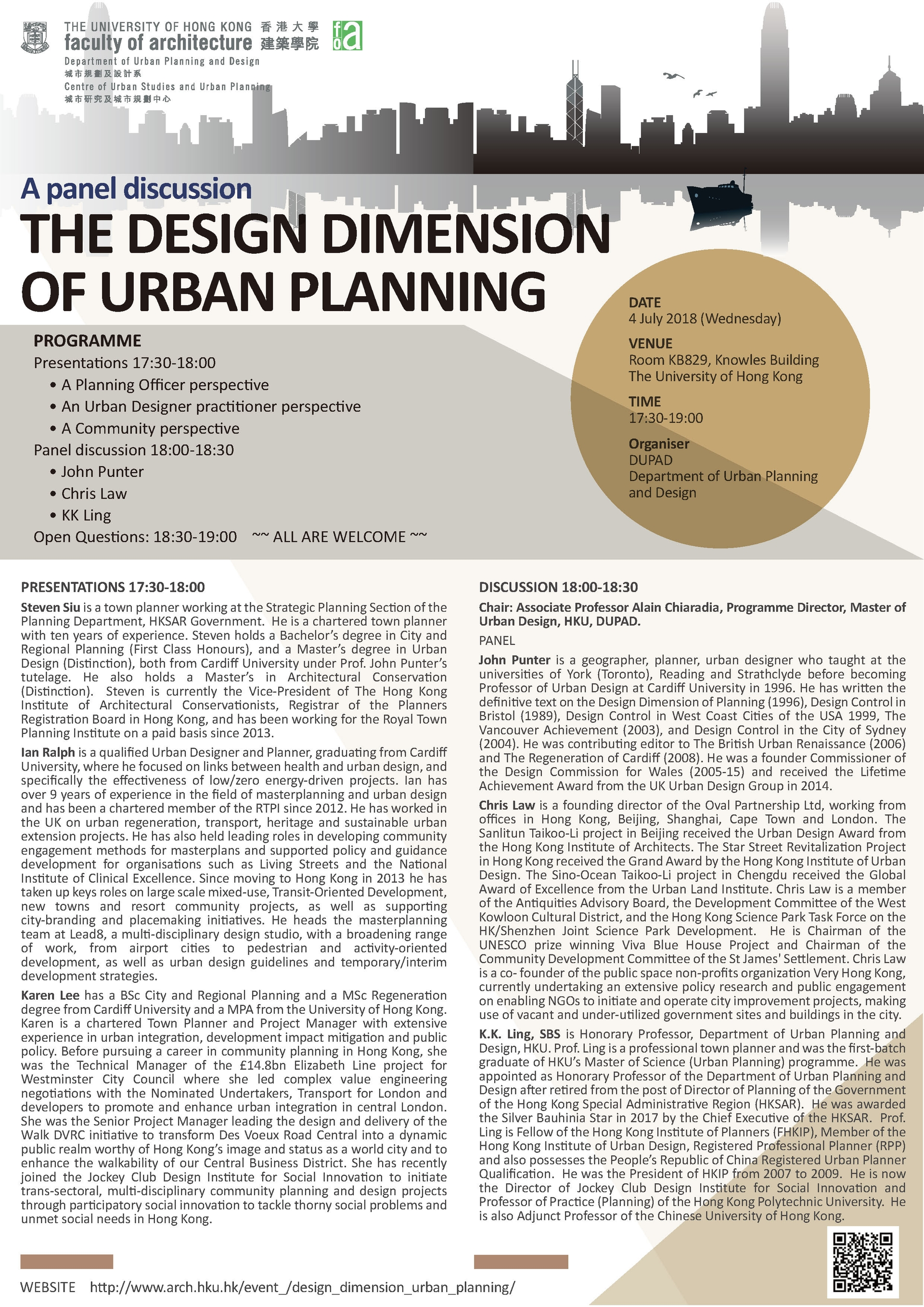 The Design Dimension of Urban Planning