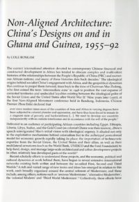 Non-Aligned Architecture: China's Designs on and in Ghana and Guinea 2