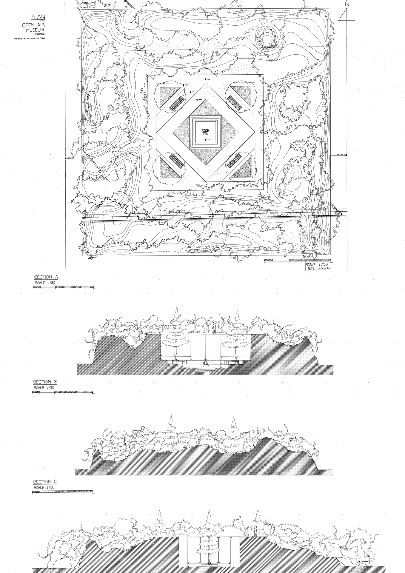 Enlarge Photo: Final design, plans and sections / Max LEE Jung Bin