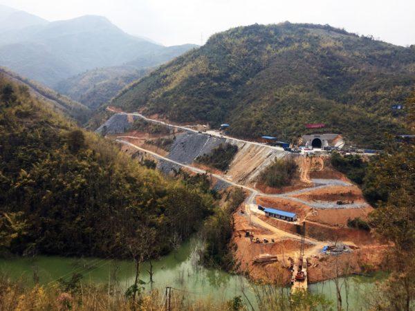 Tunnel Portal Under Construction for China-Laos Railway. By Ashley Scott Kelly.