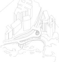 Project 1 - (Inter)positioning: Sassoon Road Rest Garden. Context axon and spatial assembly axon / Shawn ZHANG Shaoyin