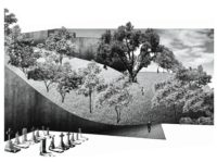 Project 2 - A Cemetery Park In-Between. Conceptual models and perspective rendering / Brian KWONG Yat Fung