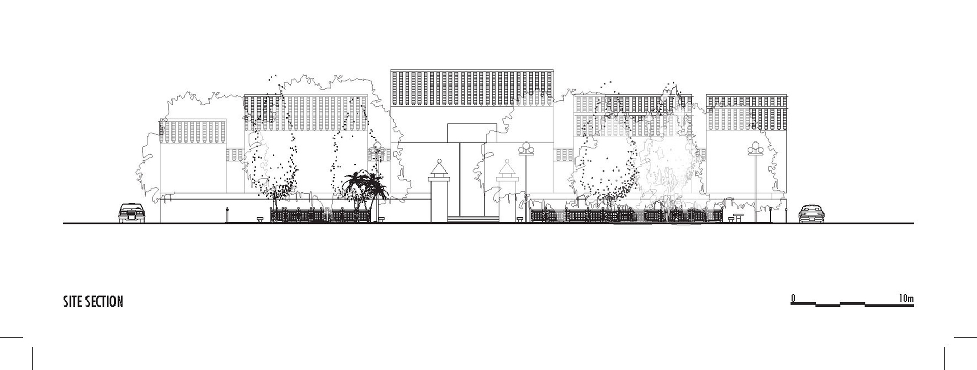 Enlarge Photo: Project 1 - (Inter)positioning: Yau Ma Tei Community Centre Rest Garden Site section. By ZHENG Ying.