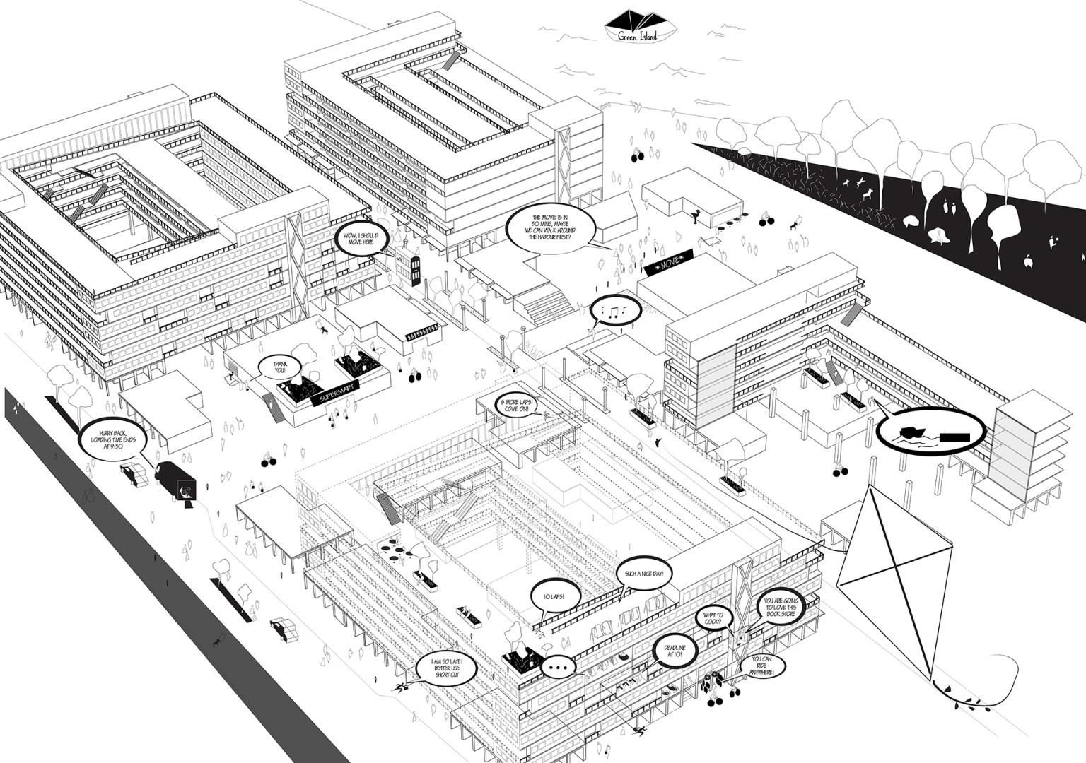 Enlarge Photo: Architecture and Public Ground: Dazibao d'architecture HK 7