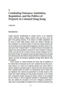 Combating Nuisance: Sanitation, Regulation, and the Politics of Property in Colonial Hong Kong 2