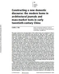 Constructing a New Domestic Discourse