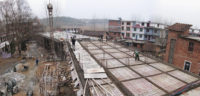 Construction site of the School