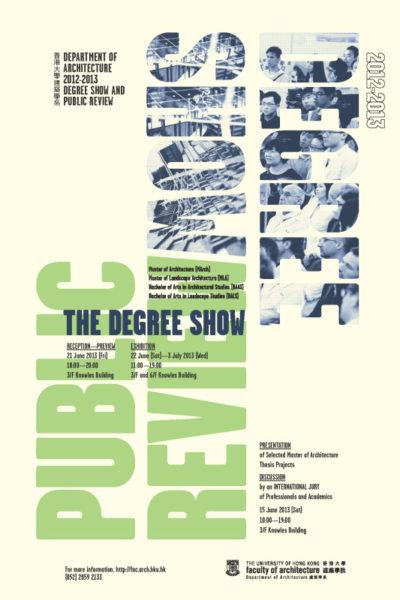 Architecture Degree Show 2013