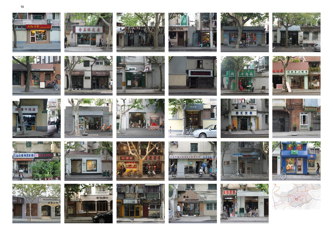 Photo documentation of street front commercialization in Shanghai 2011-2013  (© Ying Zhou)